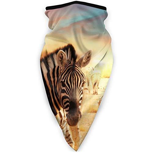 BEHDIJ Pasamontaas Mscara de deportes a prueba de viento, bufanda para mujeres y hombres, al aire libre, cmoda y transpirable, para el cuello, bufanda, desierto, cebra
