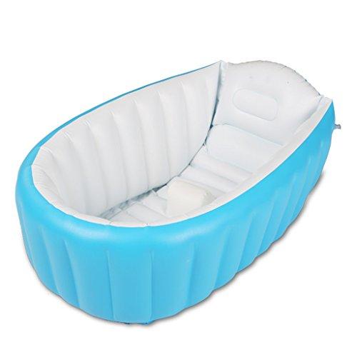Bathtub YG Enfants Gonflable Piscine Anti-Glissante Pliable Voyage Air Douche Bassin Siège Bains Grande Taille (pour 0-3 Ans) + Pompe À Air guo-Yugang (Couleur : B)