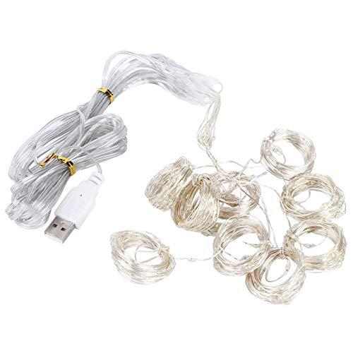 Shipenophy Cadena de Luces LED románticas alimentadas por USB para Fiestas(Warm White)