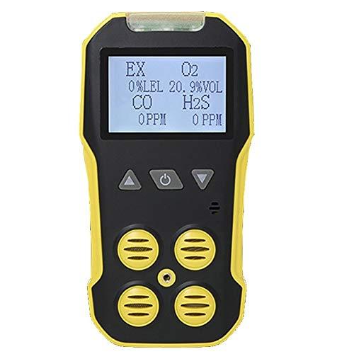 No-Branded 4 en 1 Sulfuro de hidrógeno Detector de Gas de combustión de CO O2 H2S LEL Analizador Nocivo Tóxico Multi Escape del Gas del Monitor del Detector