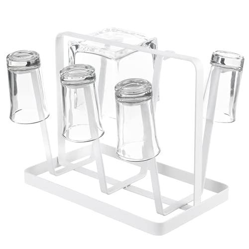 Soporte para Copa De Vino Estante De Secado De Café Organizador De Cocina Soporte para 6 Tazas Taza Botella De Vidrio Inicio Estante para Copas De Vino (Size:7.87 * 4.92 * 6.89 Inch; Color:White)