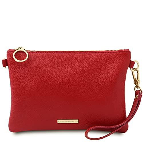 Tuscany Leather. TL Bag - Pochette in pelle morbida - TL142029 (ROSSO LIPSTICK)