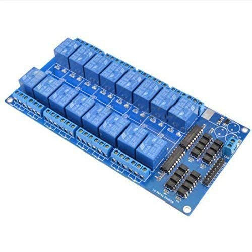 Cobeky Dauerhaft 1PCS 16-Kanal 5V Relay Shield Modul mit Optokoppler Für Arduino Neu