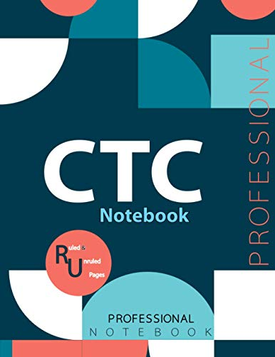 """CTC Notebook, Examination Preparation Notebook, Study writing notebook, Office writing notebook, 140 pages, 8.5"""" x 11"""", Glossy cover"""