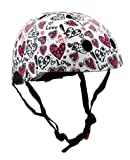 Kiddimoto, casco per bambini, completamente regolabile, per ciclismo, scooter, bici da equilibrio, skateboard, KMH107M, Amore, M (53-58cm)