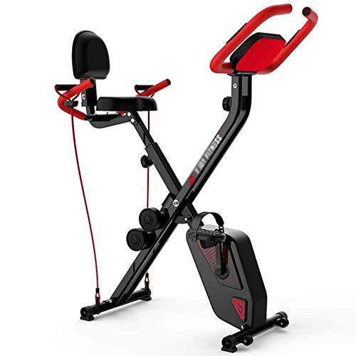 NYPB Bicicleta Estática Plegable para Interiores, Home Fitness Bike for Weight Loss Resistencia Ajustable, Pantalla LCD Control Magnético Bicicleta de Ejercicio de Interior
