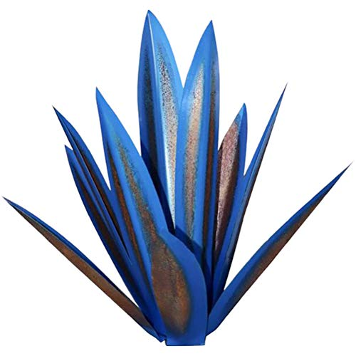 Rlevolexy Courtyard decoration - Metal Agave Plant Sculpture Garden Yard Art Decoration Statue Yard Stakes Lawn Ornaments Metal Plants for Outdoor Patio Yard