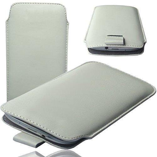 MOELECTRONIX MX WEIß Slim Cover Hülle Schutz Hülle Pull UP Etui Smartphone Tasche passend für Fantec Limbo