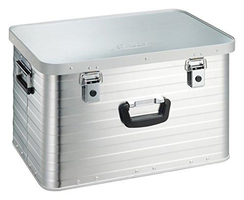 Enders Alubox 63 Liter + Schloss Set, hochwertig verarbeitet mit Moosgummidichtung, Alukiste verwendbar als Transportbox und Lagerbox - Alukoffer Lagerkisten Metallkiste Metallbox Aluboxen Alukisten
