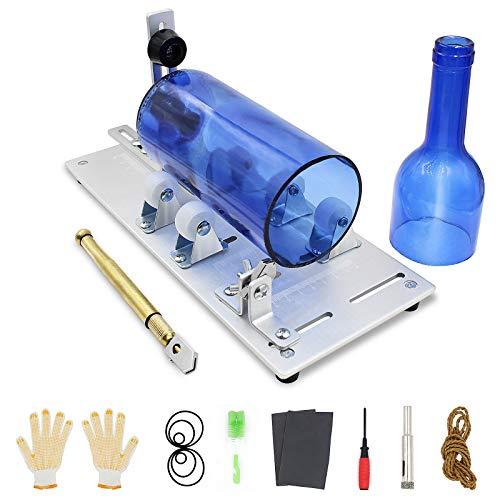 Glasschneider für Flaschen STARESSO 5-Rad 4mm Edelstahl Flaschenschneider Verstellbarer Runder Bottle Cutter Kit für DIY Kronleuchter Kerzenhalter aus Wein Bier Whisk Stifthalter