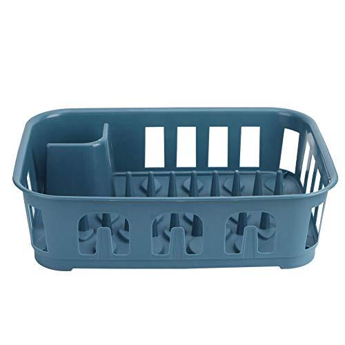 Rejilla para vajilla, Rejilla de Drenaje, utensilio de exhibición Azul Oscuro para vajilla para Fregadero de Cocina