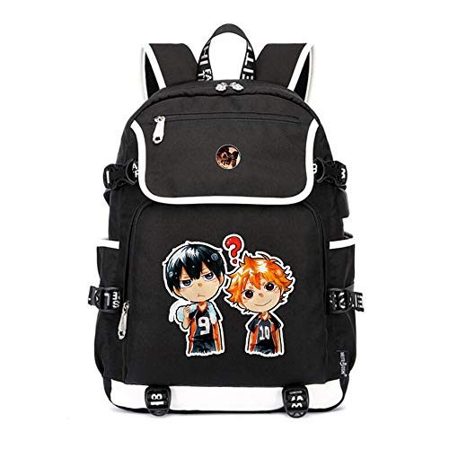 WOONN Anime Volleyball Junior Backpack Middle Student School Bag Teens Laptop Backpack