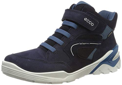 ECCO Jungen Biom VOJAGE Hohe Sneaker, Blau (Night Sky/Indian Teal 51296), 39 EU