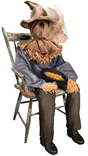 Sitting Scarecrow Animated Prop