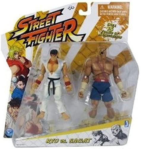 Street Fighter Classic 4 inch Ryu vs. Sagat Action Figure by Street Fighter