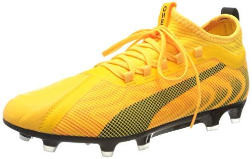 Puma One 20.2 FG/AG, Scarpe da Calcio Uomo, Giallo (Ultra Yellow Black/Orange Alert), 44 EU
