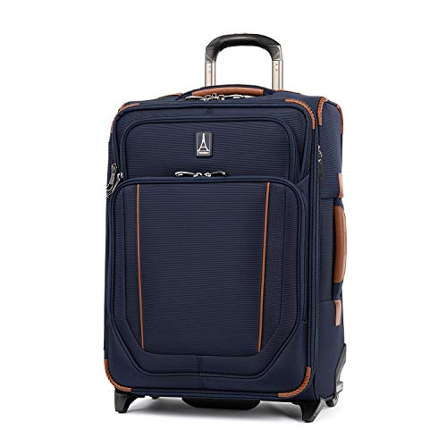 Travelpro Crew Versapack Softside Expandable Upright Luggage, Patriot Blue, Carry-On 21-Inch