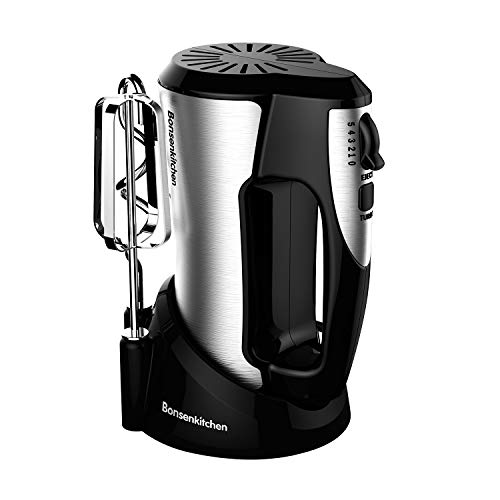 Electric Hand Mixer 5-Speed,300W Turbo Handheld Mixer with Eject Function,Storage Case and 4...