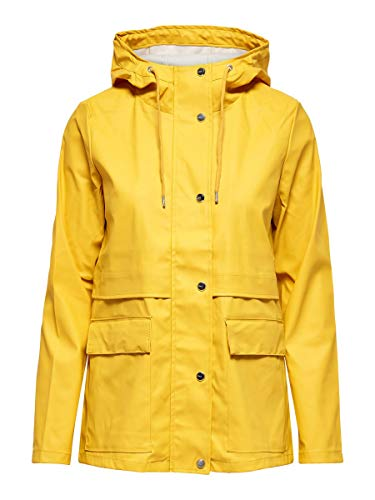 ONLY Damen Regenjacke Einfarbige LYolk Yellow