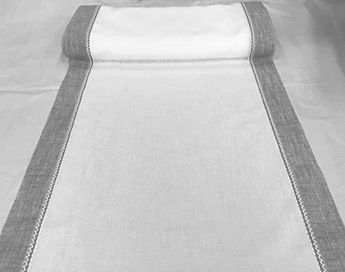 Telas para visillos para Ventana-Tela por Metros para Cortinas y visillos-Ancho de 35 a 120 cm -Tejido de Efecto Lino (cm 65)