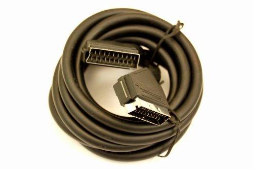 VS-ELECTRONIC - 610448 Scartkabel, Typ U, Scartstecker, SVHS, einzeln geschirmt, 21-Polig, Professionell, 3 m Länge, Schwarz VC96020