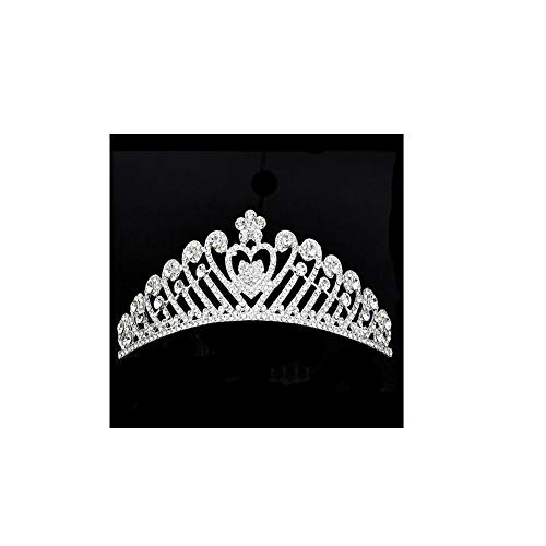 Aishangta - Pendientes de aleación para novia, diseño de corona de cristal