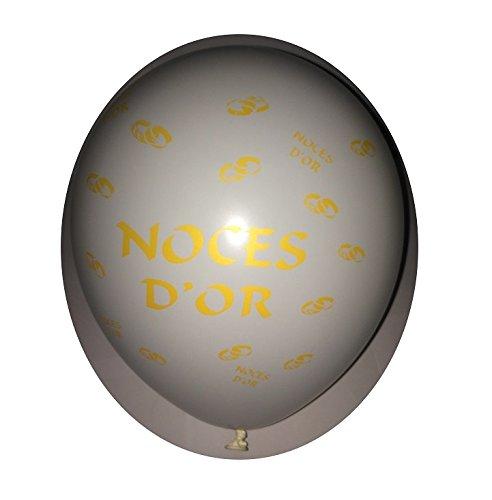 Lot 20 Ballons Blanc Noces d'or 31cm Decoration Mariage 371