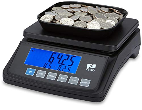 ZZap MS10 Coin Counting Scale - Money Cash Currency Weighing Machine