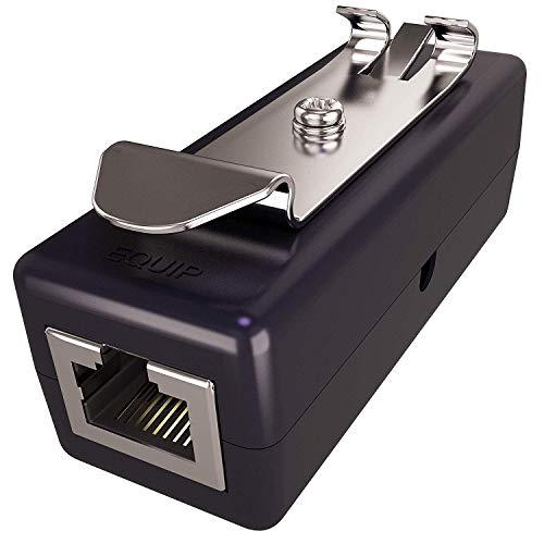 Ethernet Surge Protector - PoE+ - Gigabit - (with DIN Rail Mount Option) - Gas Discharge Tube for Full Protection - RJ45 Lightning Suppressor - LAN Network CAT5/CAT6 Thunder Arrestor - Tupavco TP309