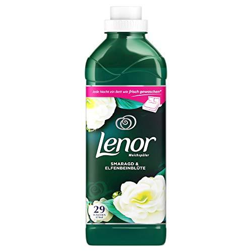 Lenor Weichspüler, Flauschige Wäsche, Smaragd & Elfenbeinblüte, 29 Waschladungen (870 ml)