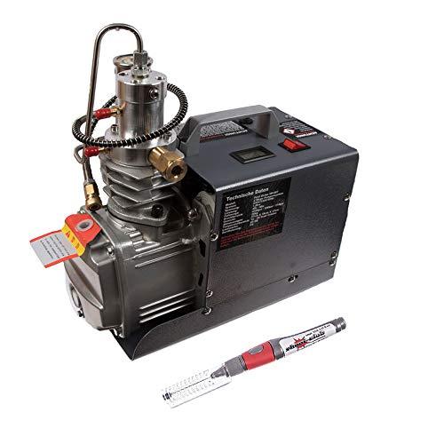 First Strike 300BAR HPA/Pressluft Kompressor Mini - ohne Auto Stop - Inklusive original Shoot-Club Oil Pen