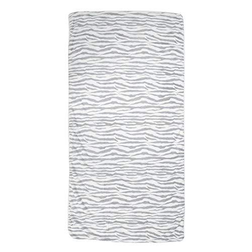 Coral Velvet Leopard Print Warm Wrap lange handdoek, zachte badjas warm wasbare douchehanddoek, 150 x 75 cm, (bruin of lichtgrijs) lichtgrijs