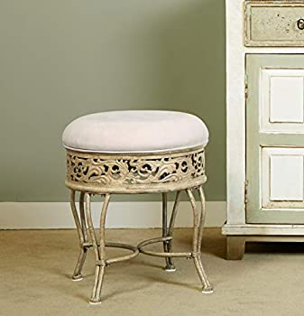 Hillsdale Villa III Upholstered Backless Vanity Stool Antique Beige