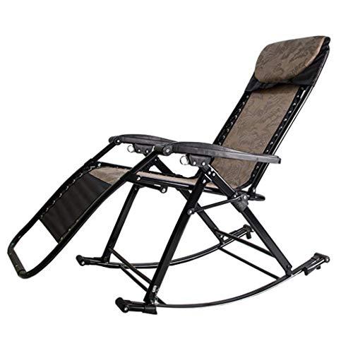 Sonnenliegen Outdoor Schaukelstühle mit Verstellbarer Kopfstütze Garten Freizeit Stuhl Patio Lounge Liegen Klappbarer Liegestuhl für Beach Garden Camping Pool Side