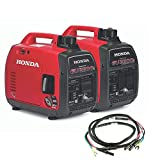 Honda EU2200iTAG 2200W 120V Portable CO-Minder Inverter Generator Bundle with Parallel Cables