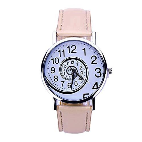 JZDH Relojes para Mujer Mujeres Watch Rose Gold Women's Mesh Bey Relojes de muñeca de Moda Ultrafina Relojes Decorativos Casuales para Niñas Damas (Color : Brown)