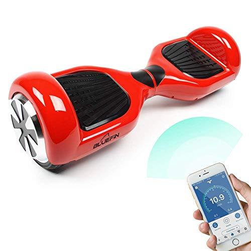 Bluefin Elektro Scooter E-Balance Skateboard 6.5 Zoll, Integrierte Bluetooth Lautsprecher & App, Leiser Motor, Für Kinder & Erwachsene, Samsung Batterie