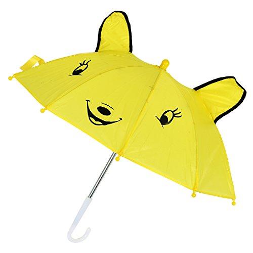 ACAMPTAR Kinder Panda-Muster- gelben Regenschirm Spielen Spielzeug