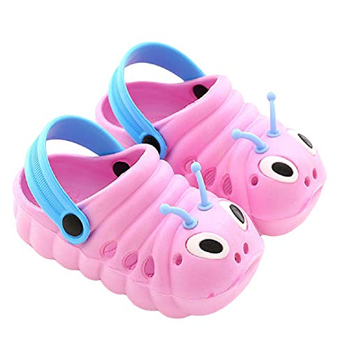VARWANEO Baby Boys Girls Toddlers Shoes Anti-Slip Shoes Slippers Unisex Lightweight Caterpillar Shape Cute Shoes Pink