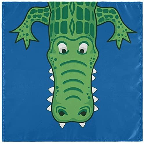 BONRI - Set di 6 tovaglioli in tessuto di alligatore, lavabili in poliestere, 50 x 50 cm, per famiglie, feste, matrimoni, ristoranti, cene