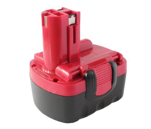 2-Pack Bosch 14.4V Battery Replacement - Compatible with Bosch 32614, BAT040, 33614, BAT140, PSR 14.4VE-2, GSR 14.4 V, GDS 14.4 V, GDR 14.4 V, ART 26, AHS 41, 53514, 52314, 13614, BAT038, 3660K, 35614, 34614, 15614, BAT159, BAT041 (1300mAh, NICD)