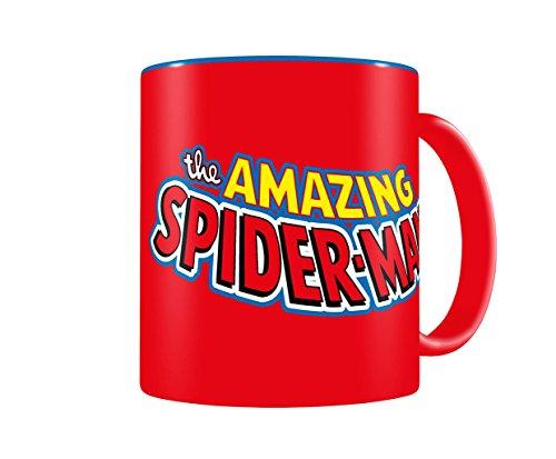 SD toys Marvel Comics Taza con diseño Spiderman, Cerámica, Azul y Rojo, 8 cm