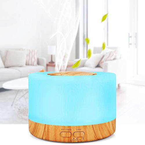 XBAO Luchtbevochtiger voor slaapkamer, radiator, aromatherapie ultrasone 4-in-1, luchtbevochtiging, aromatherapie, reiniging, nachtlampje Essential Oil Diffuse