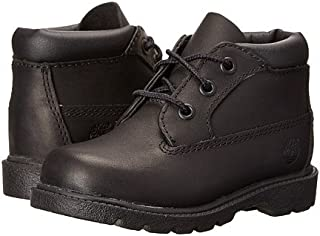 (ティンバーランド)Timberland キッズブーツ?靴 3 Eye Chukka (Toddler/Little Kid) Black Full Grain Leather 4.5 Toddler 12cm M [並行輸入品]