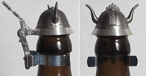 Flaschendeckel Zinn, Bierflasche Zinn Deckel, Bierflaschendeckel, Wikinger, Helm