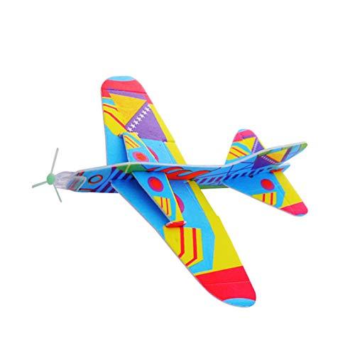Planificador de vela, 20 unidades, avión, juguete para niños, niñas, niños, fiesta de cumpleaños, premio, regalo de avión, color aleatorio