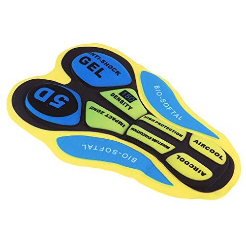 Cuscino di Seduta Ciclomotore 3D con Imbottitura per Pantaloncini da Ciclismo - 5D amarillo azul, tal como se describe