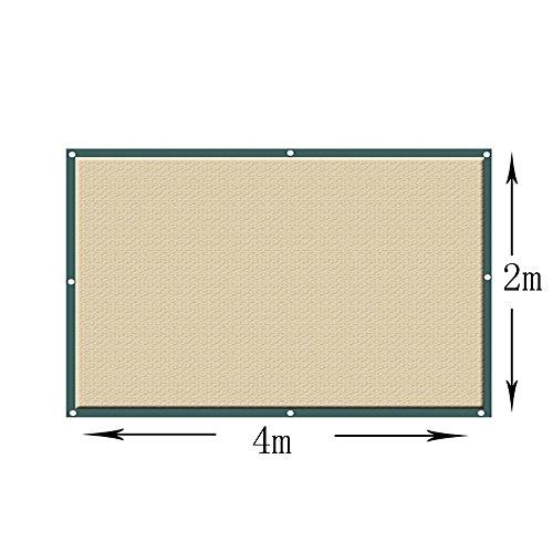 Sunblock Écran de tissu de tissu d'abri d'auvent d'auvent de khady carré d'ombre de Sun - (TAILLE PERSONNALISÉE DISPONIBLE) Taille facultative (Couleur : Kaki, taille : 4×2M)