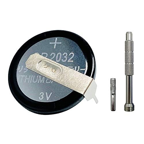 Dicross CR2032 タブ付き ボタン電池 3V 5個セット 任天堂 ファミコン FC スーパーファミコン SFC スーファミ 64 ソフト バックアップ用 交換 電池 (特殊ネジ用ドライバーセット)