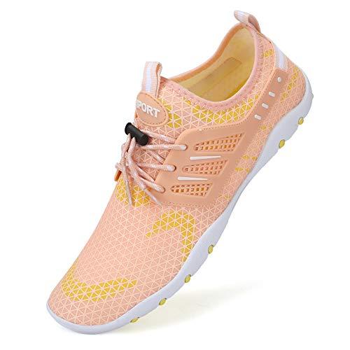 Zapatos de agua para hombre y mujer, de secado rápido, unisex, con 14 agujeros de drenaje para nadar, caminar, yoga, lago, playa, jardín, parque, conducir, navegar, color, talla 41 EU